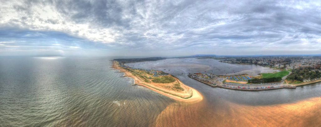 aerial photography of Hengistbury Head
