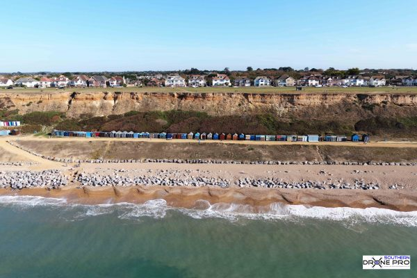 Drone photo, drone image, aerial photo, Bournemouth, Boscombe, Bournemouth Beach, Drone photography Bournemouth